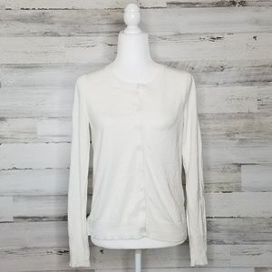 Express Cream Button Down Cardigan